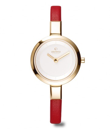 Montre rouge chic !