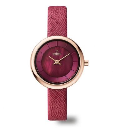 Un amour de montre couleur cerise.