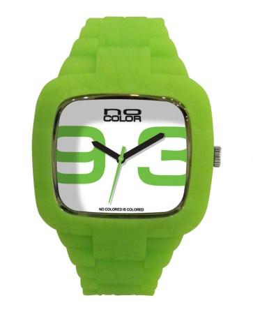 Montre silicone vert anis