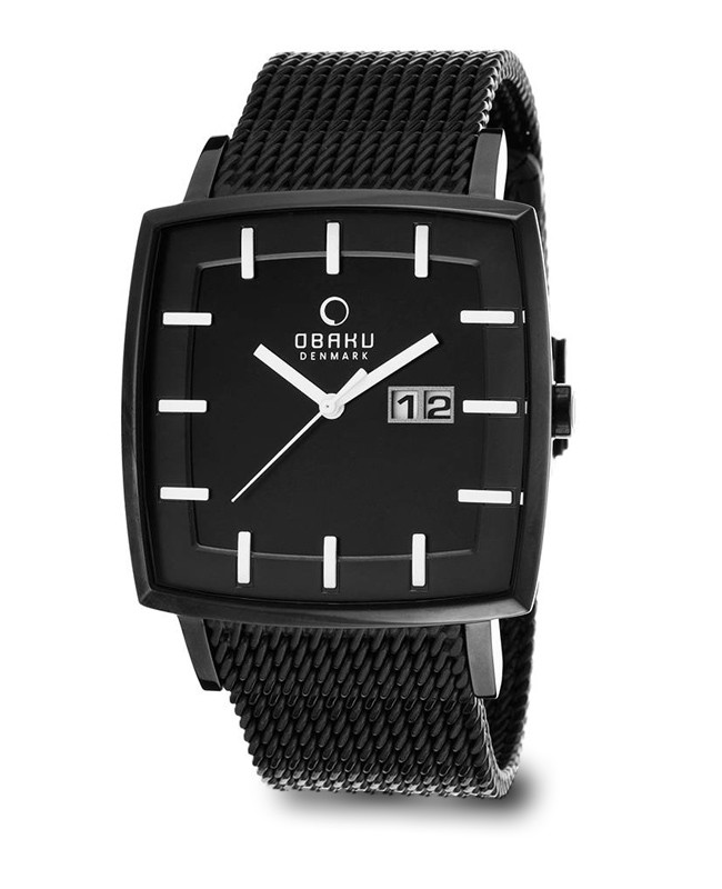 obaku montre homme carr e les plus belles montres homme. Black Bedroom Furniture Sets. Home Design Ideas