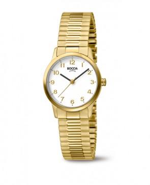 Nouveauté Boccia Titanium montre pour femme en pur titane doré