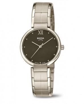 Titane montre noire et argentée