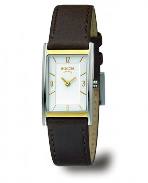 Montre cadran rectangle bicolore