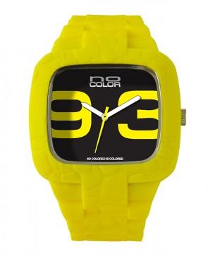 Montre silicone jaune