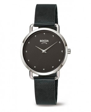 Boccia montre femme titane noir