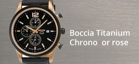 montre chrono boccia or rose , 3759-02